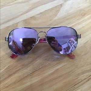 Violet Aviator Sunglasses